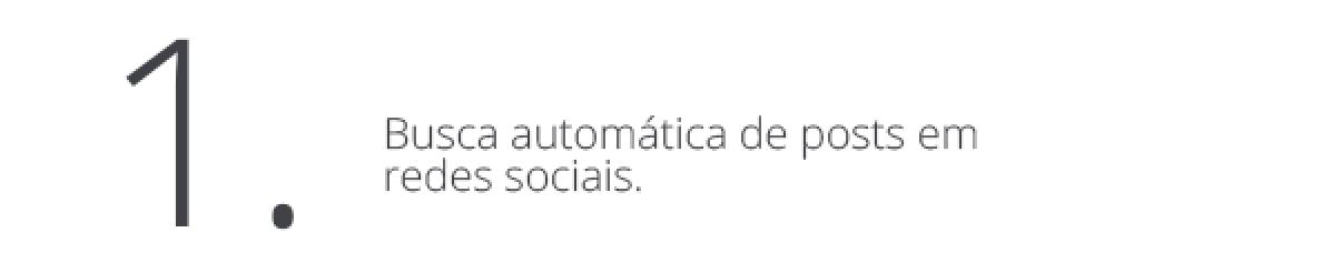 Busca automática de posts em redes sociais